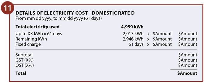 Quebec Hydro Electricity Bill