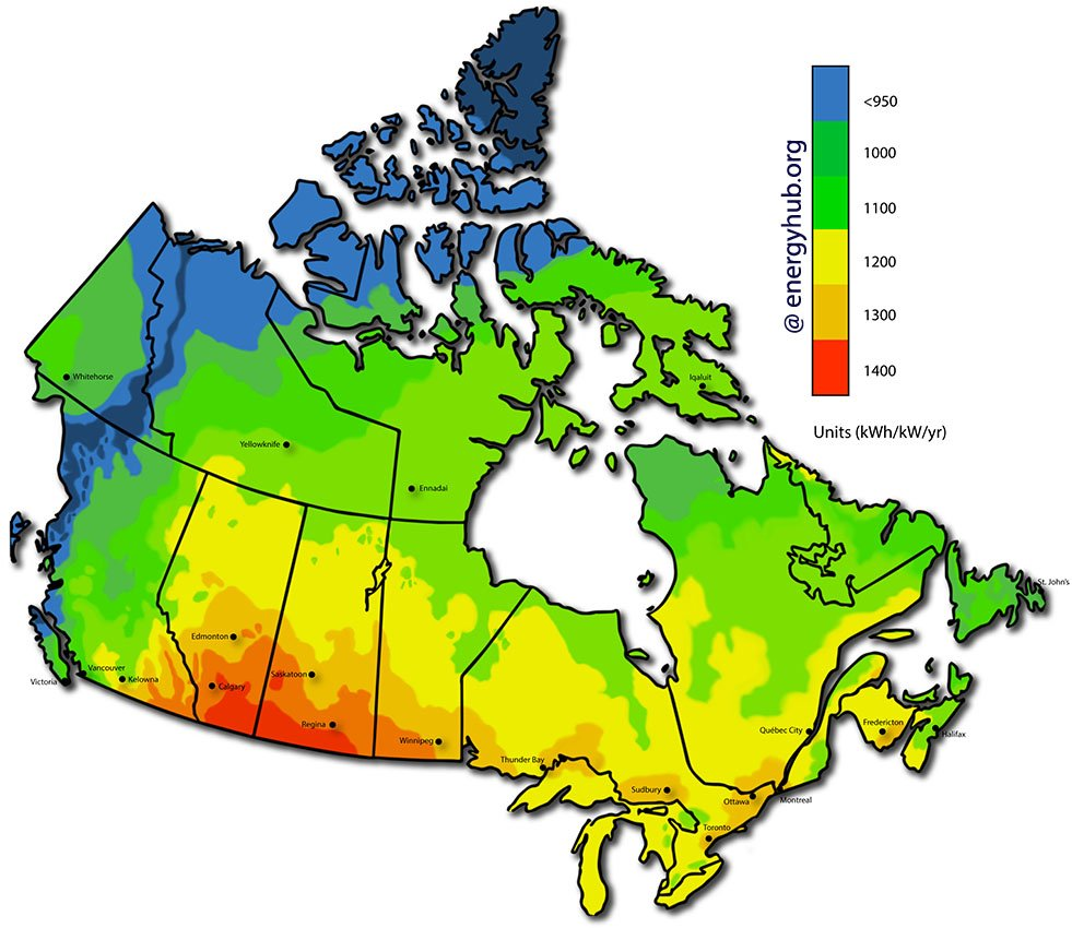 Map Of Canada With Cities And States.Solar Energy Maps Canada Every Province