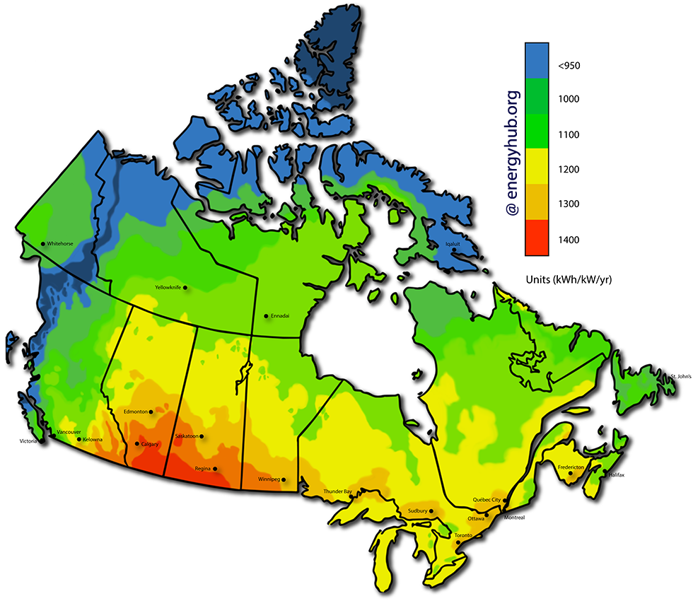 Solar Energy Map Canada