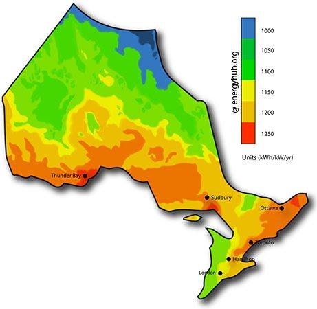 Solar Energy Map Ontario