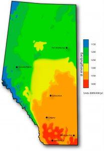 Solar Power Map Alberta