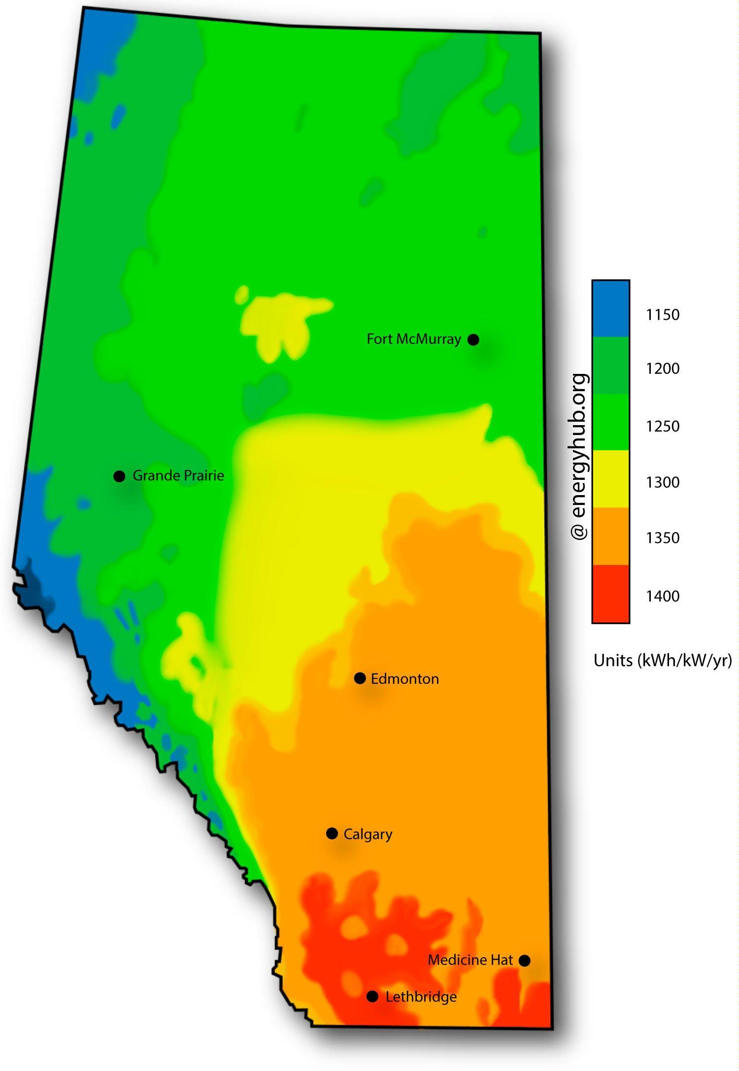 Solar Energy Maps Canada (Every Province) on