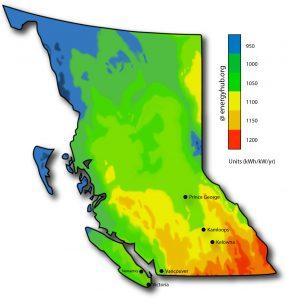 Solar Power Map British Columbia