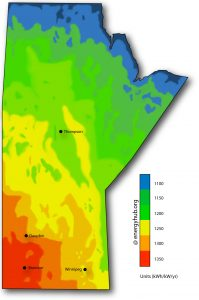 Solar Power Map Manitoba