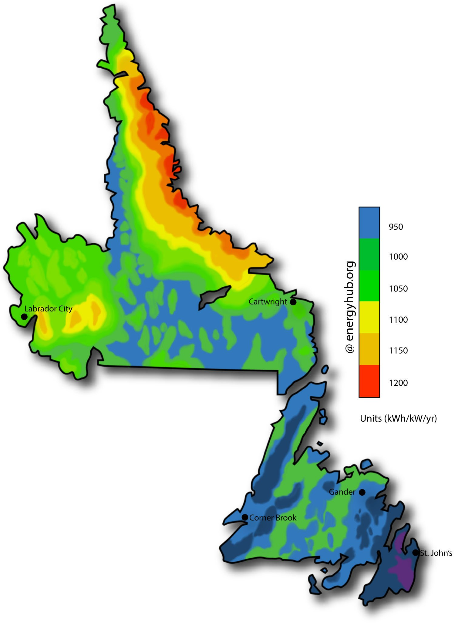 Map Of Western Canada Provinces.Solar Energy Maps Canada Every Province