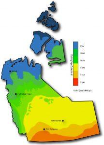 Solar Power Map Northwest Territories