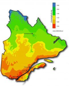 Solar Power Map Quebec
