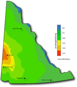 Solar Power Map Yukon Territory