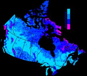 Wind Speed Map Canada