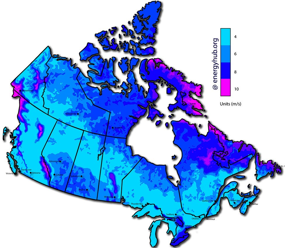 Wind Speed Map Canada